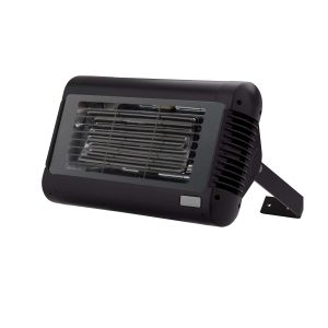 Front Shot of Tansun Sorrento Ceramic Single Infrared Heater in Black
