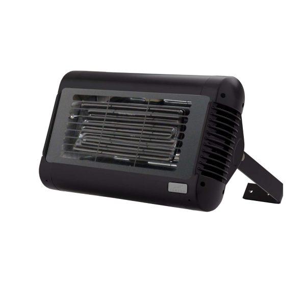 Front Shot of Tansun Sorrento Ceramic Single Infrared Heater in Black