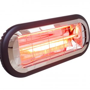 Comet infrared heater in black
