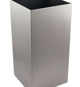 Brushed Stainless 50 Litre Open Top Waste Bin