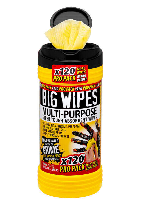 Big Wipes mutlipurpose and anti-bacterial cleaning wipes